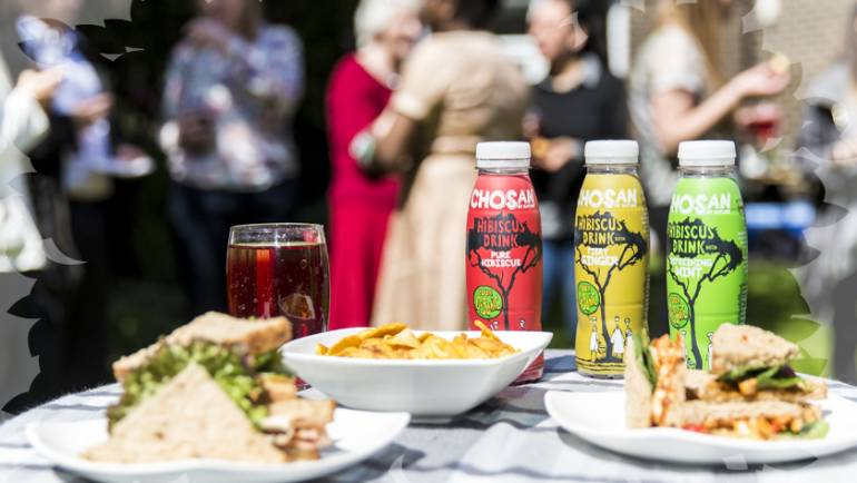 Rebranded Chosan drinks unveiled at Colchester garden party