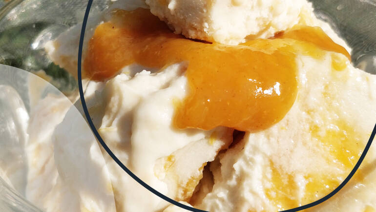 Recipe: Baobab & Orange Ripple Ice Cream