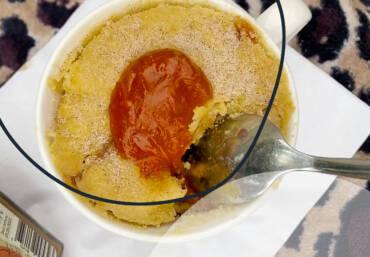 Recipe: A Jam doughnut in a mug… A Mugnut!