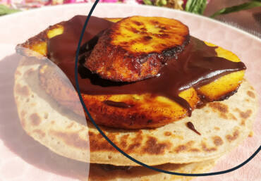 Recipe: Plantain pancakes with chocolate baobab spread