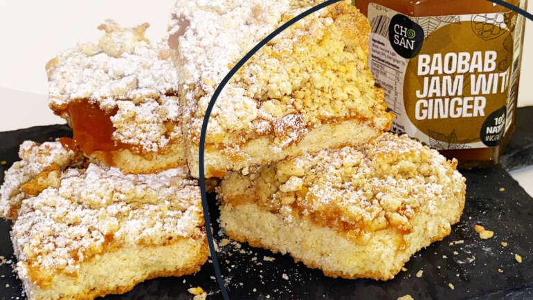 Recipe: Baobab Ginger Shortbread squares